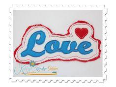 Love Distressed Applique