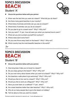 Beach, English, Learning English, Vocabulary, ESL, English Phrases, http://www.allthingstopics.com/beach.html