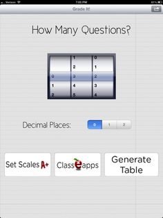 Grading On the Go.  A free app to easily calculate percentages.  Say good by to the e-z grader!
