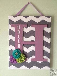 Create a Chevron Canvas Initial for Your Wall
