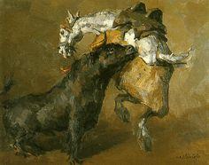 """Romaneando"".1986. José María García Fernández, ""Castilviejo"" . Zamora .1925-2004 Maria Garcia, Painting, Art, Pintura, Art Background, Painting Art, Kunst, Paintings, Performing Arts"