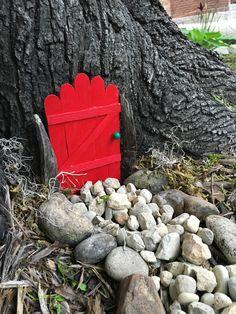Popsicle Stick Fairy Door | Slumbering Alligator