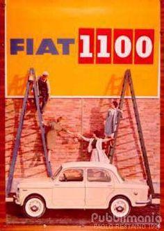 Vintage Italian Posters ~ #illustrator #Italian #posters ~ Fiat 1100