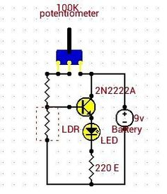 Simple circuit for every electronics beginers : #Automatic night lamp with LDR