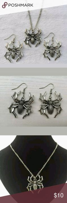 I just added this listing on Poshmark: Vintage Silver Spider Necklace and Earrings. #shopmycloset #poshmark #fashion #shopping #style #forsale #Jewelry Spider Earrings, Drop Earrings, Necklaces, Bracelets, Vintage Silver, Chain, Pendant, Shopping, Jewelry