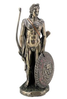 Apollo Greek God of Music and Archery Statue Bronze Finish-The Greek god Apollo is one of the leading gods from the ancient Greek mythology pantheon. Apollo Greek Mythology, Greek And Roman Mythology, Greek Gods, Athena Statue, Apollo Statue, Greek God Sculptures, Greek God Of Light, Apollo Tattoo, Objets Antiques