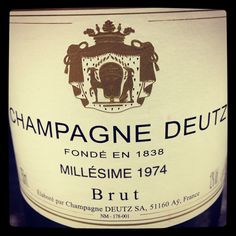 Champagne Deutz 1974 directly from the domaine.
