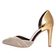 """Incredible gold heels (Jessica Simpson's """"Seville"""")"""