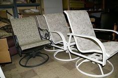 Recover Sling Back Chairs! We just bought 4 of these for ...