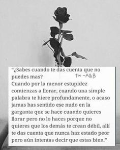 Get in touch with Adolescentes Suicidas. Ask anything you want to learn about Adolescentes Suicidas. Sad Quotes, Love Quotes, Inspirational Quotes, Qoutes, Quotes En Espanol, Sad Life, More Than Words, Spanish Quotes, Deep Thoughts