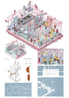 George Bradford-Smith - Smout Allen - Smout Allen Interesting post digital presentation, and conceptual architecture - Conceptual Architecture, Architecture Collage, Architecture Graphics, Architecture Drawings, Landscape Architecture, Architecture Design, Architecture Mapping, French Architecture, Architecture Portfolio