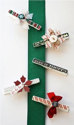 Once Upon a Christmas Clothespins featuring Lisa Swift
