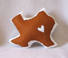 Custom State Pillows - Customize Heart, Color and State! You could probably make these yourself...