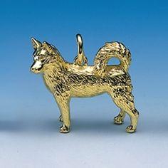 Anhänger Husky Breite 30 mm / Höhe 29 mm Silbergewicht: 21,8 g