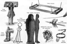 Torture devices used on Witches