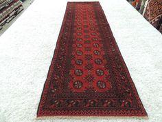Handmade Afghan Turkman Runner Size: 279cm x 80cm