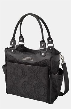 Great caryall! Black Floral Petunia Pickle Bottom Diaper Bag
