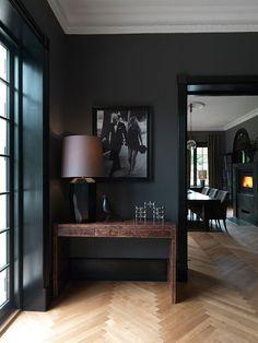 Dream Home Design, House Design, Interior Design Living Room, Interior Decorating, Design Room, Loft Design, Casa Top, Dark Home Decor, Black Interior Design