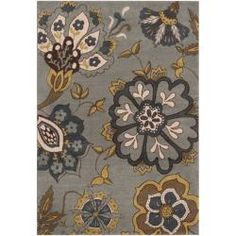 @Overstock - This machine-woven rug features a plush pile. Colors of blue, brown, gold and taupe accent this area rug.http://www.overstock.com/Home-Garden/Fleetwood-Blue-Floral-Rug-53-x-76/6345728/product.html?CID=214117 $146.99