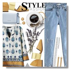 """""""Weekend Casual Printed Blouse"""" by jiabao-krohn ❤ liked on Polyvore featuring Chloé, Givenchy and Versace"""