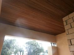 Portico roof lining