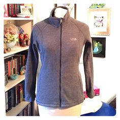North Face fleece base layer Practically brand new! Grey fleece base layer or light jacket perfect for spring! Multiple pockets. Any questions please don't hesitate to ask North Face Jackets & Coats
