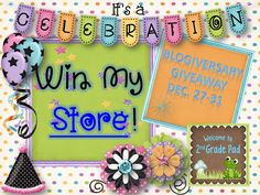 Teacher Mom of 3: Win An Entire Store and A FREEBIE!!!