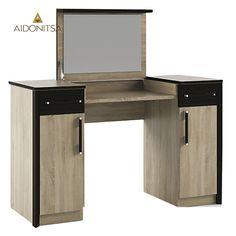Τουαλέτα με 2 συρτάρια, 2 ντουλάπια και αναδιπλούμενο καθρέπτη κατάλληλη για το υπνοδωμάτιο. Από την Alphab2b.gr Office Desk, Corner Desk, Drawers, Furniture, Home Decor, Products, Corner Table, Desk Office, Decoration Home