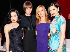 FOUR TIMES A LADY Dita Von Teese, Coco Rocha, Georgia May Jagger and Jessie J team up at Wednesday's Delete Blood Cancer Gala presented by Coty at New York's Cipriani Wall Street.