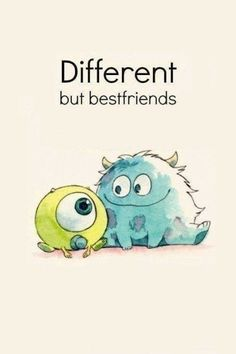 different but best friend disney pixar monsters inc