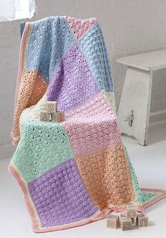 Sampler Squares Baby Afghan. Ravelry. Free pattern.