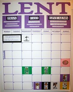 Great blog post of family activities for Lent