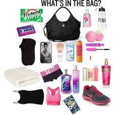 """""""What's in my gym bag?"""" by missbieberfashion on Polyvore"""