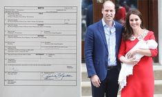 William signs Prince Louis' birth certificate