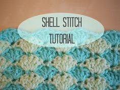 This is a tutorial for the shell stitch, I am working in UK terms (with reference to US terms at the beginning- there is a link to a conversion chart below) ...