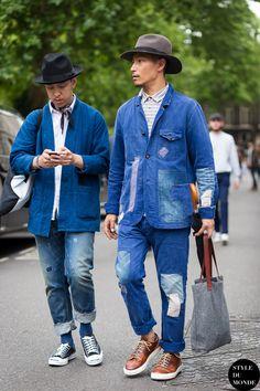 Eshan Kali and John Jarrett Street Style Street Fashion Streetsnaps by STYLEDUMONDE Street Style Fashion Photography
