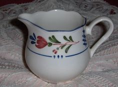 Vtg Provincial Designs By Nikko Japan Creamer Floral Porcelain Ceramic Pitcher #Nikko