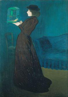 Rippl-Rónai, József - Woman with a Birdcage - Google Art Project