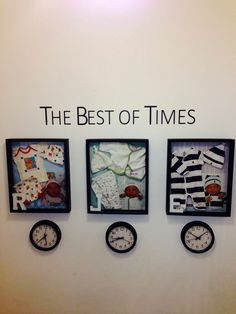 Make a shadow box for each child and set a clock to the time they were born. Make a shadow box for e Baby Kind, Baby Love, Baby Emily, Newborn Shadow Box, Baby Shadow Boxes, Diy Shadow Box, Deco Pastel, Baby Memories, Baby Crafts