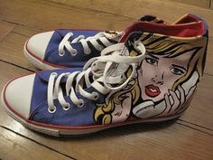 Converse All Star Pop Art by NiaD, via Flickr