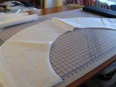 "How to make ""ruffles"" for a wedding dress"