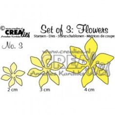7€ CreaLies Set of 3 Flowers No. 03