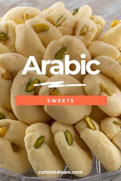 Arabic Sweets Are Tasty Treats Arabic Dessert, Arabic Sweets, Arabic Food, Indian Dessert Recipes, Sweets Recipes, Appetizer Recipes, Ghraybeh Recipe, Easy Cooking, Cooking Recipes