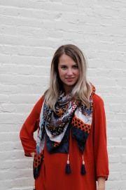 Sjaal Print Paars | Accessoires | MyWalkInCloset