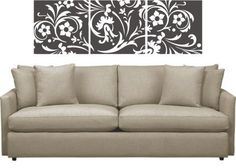 Flower Wall Decal Ornate Modern Abstract floral vinyl wall graphics set , Home decor, Office art decorations