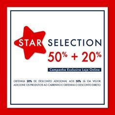 Star Selection 50% + 20% l Exclusivo Loja Online até 15 de Julho Uma seleção especial para si. Nos artigos assinalados com ESTRELA, obtenha 20% de desconto adicional aos 50% já em vigor. Loja Online @ www.lionofporches.com