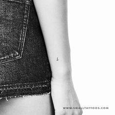 B Handwritten Letter Temporary Tattoo (Set of – Small Tattoos