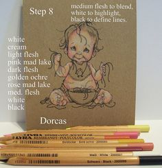 Dorcas Designs: Coloring Skin on Kraft with Lyra Rembrant Pencils Coloring Tips, Adult Coloring, Copics, Prismacolor, Colouring Techniques, Art Techniques, Colored Pencil Tutorial, Coloured Pencils, Painting & Drawing