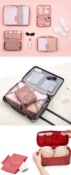 I will call this an ultimate travel pouch set as it has all essential pouches for travel packing! With awesome pouches included in the Pattern Ladies Travel Pouch Set, packing for your next travel will be a breeze!