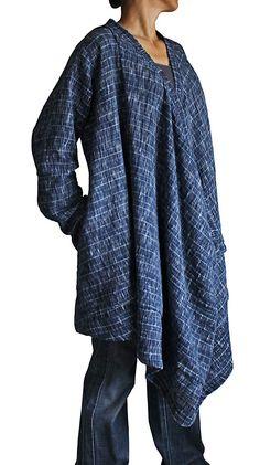 Twist design coat pullover JFS-061-04 of the hand-woven cotton Tarpon